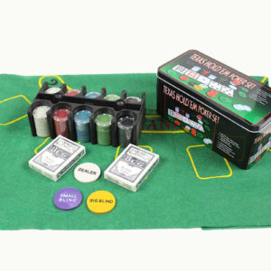 Poker Set 200pcs Casino Style Texas Hold'em with Layout - 2x Card Decks
