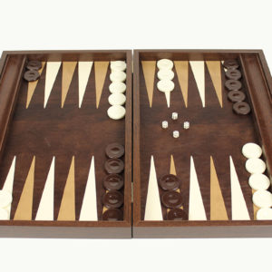 BACKGAMMON WITH LEATHER LINING