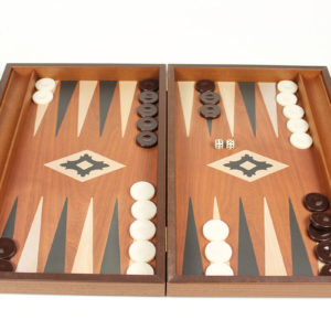 HANDMADE LUXURY BACKGAMMON WITH CASE OF MAHOGANY