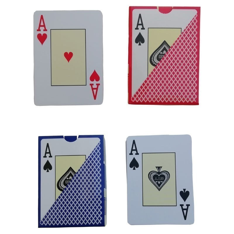 Texas Hold'em Poker Jumbo Index  Red+Blue 8pcs