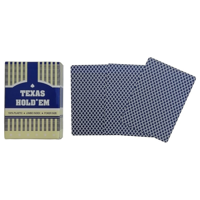Texas Hold'em Poker Jumbo Index Blue