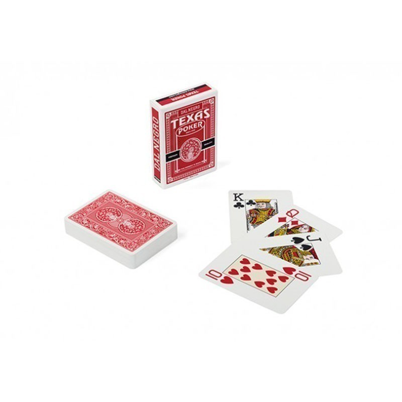 Dal Negro Texas Poker Jumbo Index 2 Pips Red   Τράπουλα Dal Negro Jumbo