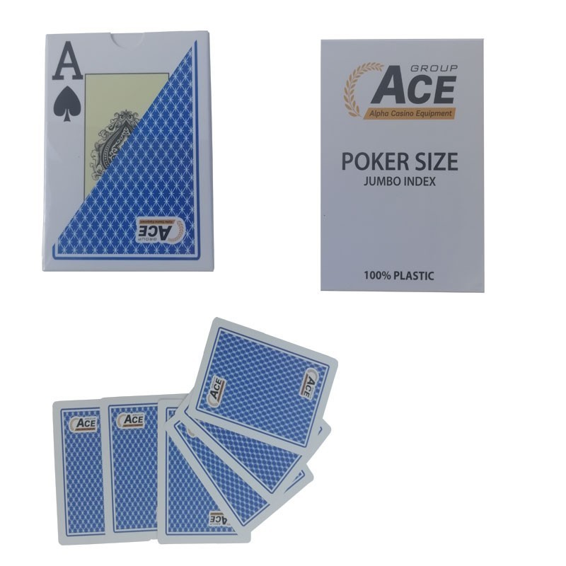 Pokeritems Texas Poker Jumbo Hold'em Blue 100% PVC