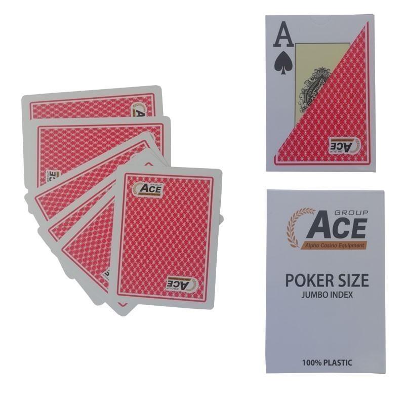 Pokeritems Texas Poker Jumbo Index 2 Pips Red | Τράπουλα Pokeritems Jumbo Κόκκινη