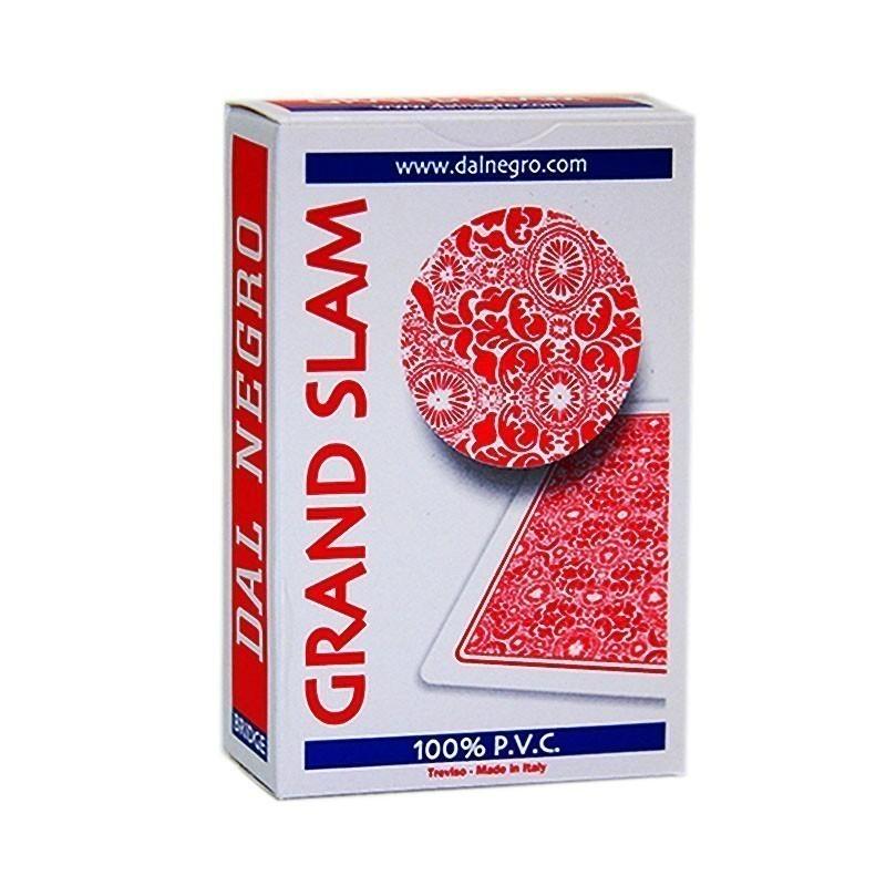 Dal Negro Grand Slam standard indexed 2 pips - Red | Τράπουλα Dal Negro Slam Νορμάλ Μεγέθους Δείκτης 2