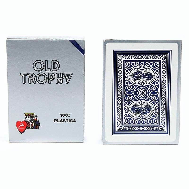 Modiano Old Trophy silver Regular index 4 pips | Τράπουλα Modiano Old Trophy Νορμάλ Μεγέθους Δείκτης 4