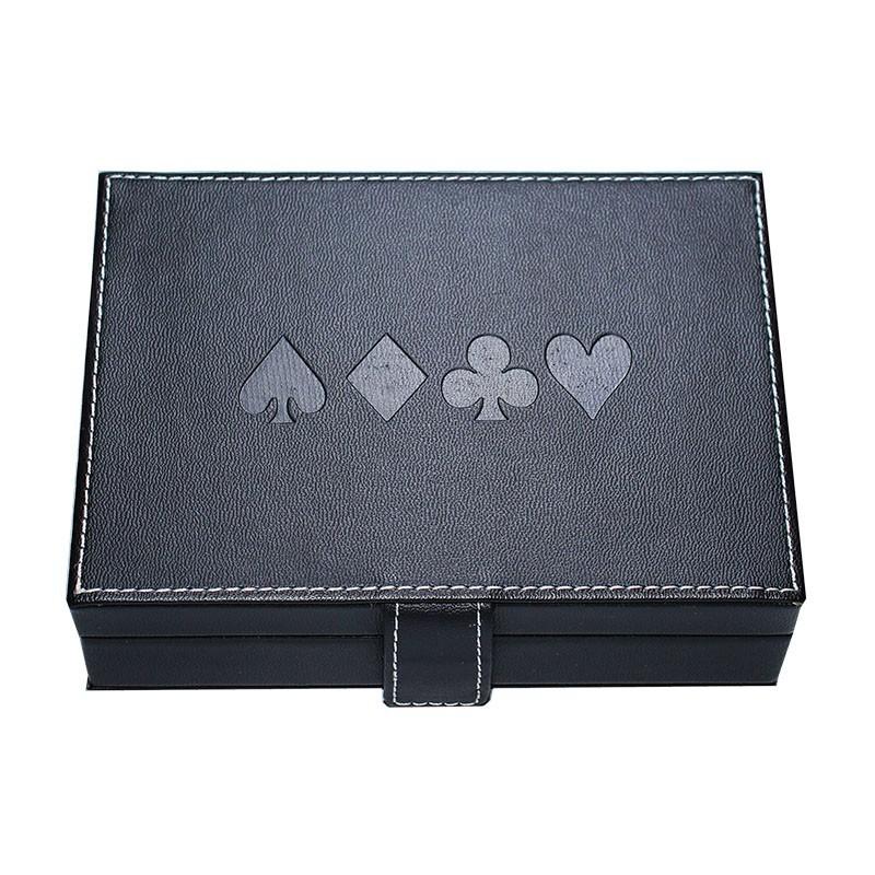 Modiano Texas Poker Jumbo 2 Orange & Purple Deck in artificial Hard Leather Box | Σετ Modiano Texas Poker Jumbo Σε Θήκη από Δερματίνη