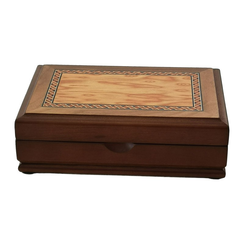 Modiano Golden Trophy regular Index 4 PiP 2 Deck set in in Hi-Gloss wood box