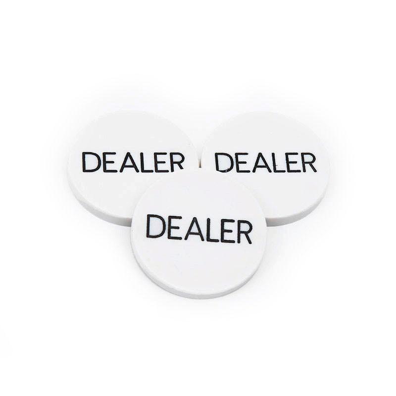 White Dealer Button (50mm) | Άσπρο Dealer Button (50mm)