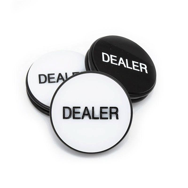 Dealer Button Black Large | Ντίλερ Button Μεγάλο Λευκό - Μαύρο