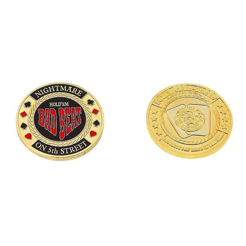 Bad Beat Medal Poker Card Guard | Μεταλλικό Protector Bad Beat