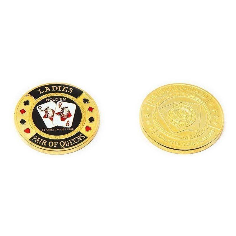 Queens Medal Poker Card Guard | Protector Μεταλλικό Queens