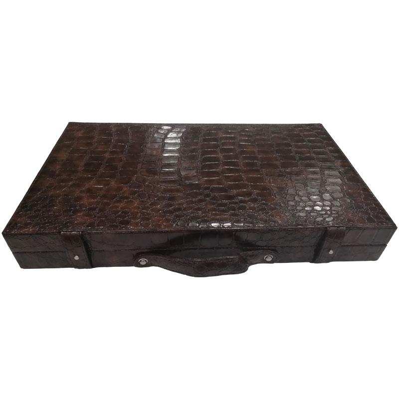 ΤΑΒΛΙ ΠΟΛΥΤΕΛΕΙΑΣ ΔΕΡΜΑΤΙΝΟ DELUXE ( ΚΑΦΕ ) 50cm X 58cm