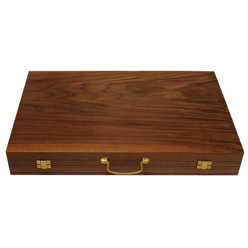 Backgammon board - Walnut | Τάβλι Βαλίτσα Καρυδιά Πολυτελείας