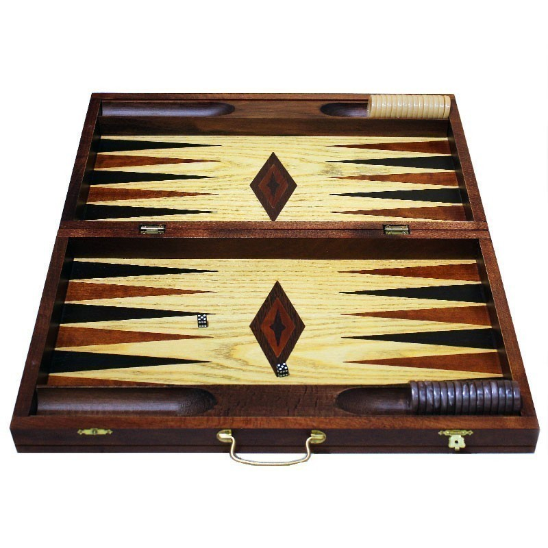 Luxury Mahogany Backgammon suitcase |Τάβλι Βαλίτσα Μαόνι Πολυτελείας
