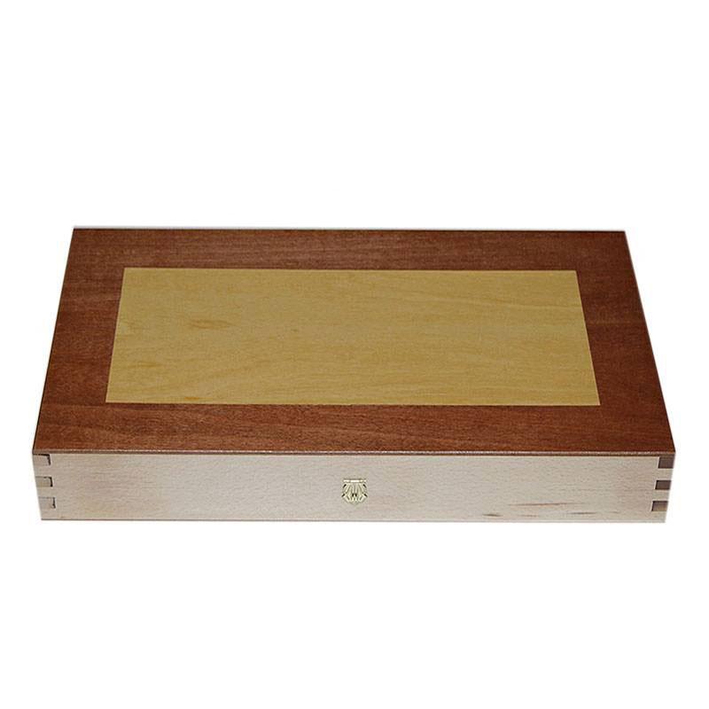 Backgammon Board Duotone Design -  Handmade Wood veneer - Big size | Τάβλι Καπλαμάς Δίχρωμα