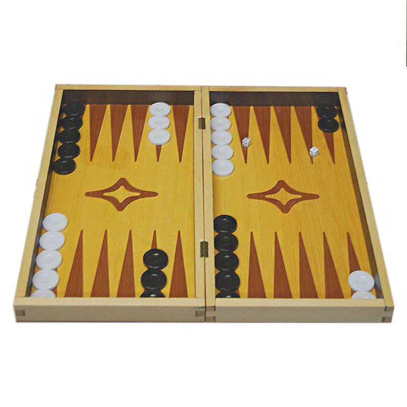 Backgammon Board Duotone Design -  Handmade Wood veneer - Big size | Τάβλι Καπλαμάς Δίχρωμα