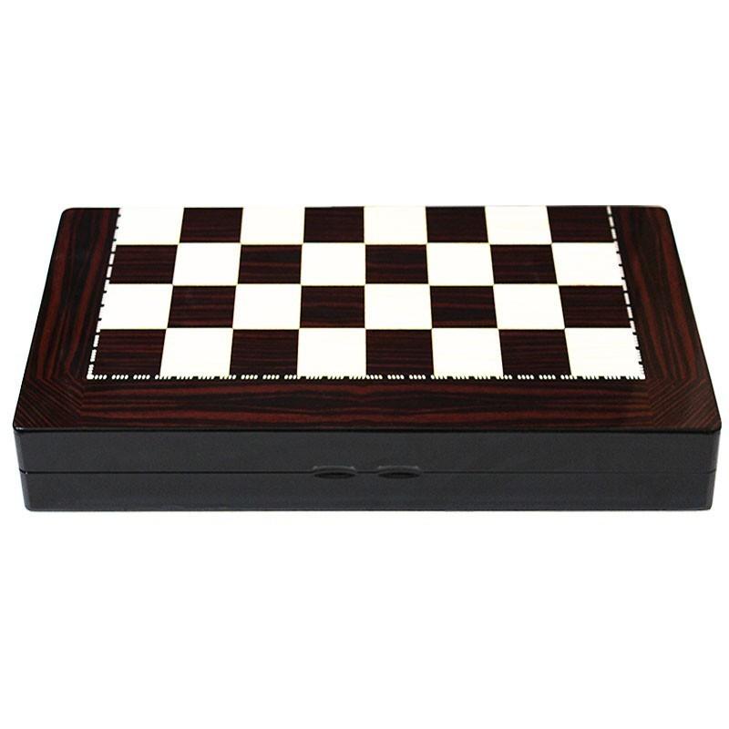 Backgammon-Chess GLOSS ΜΑΟΝΙ | Τάβλι Σκάκι Gloss Μαόνι