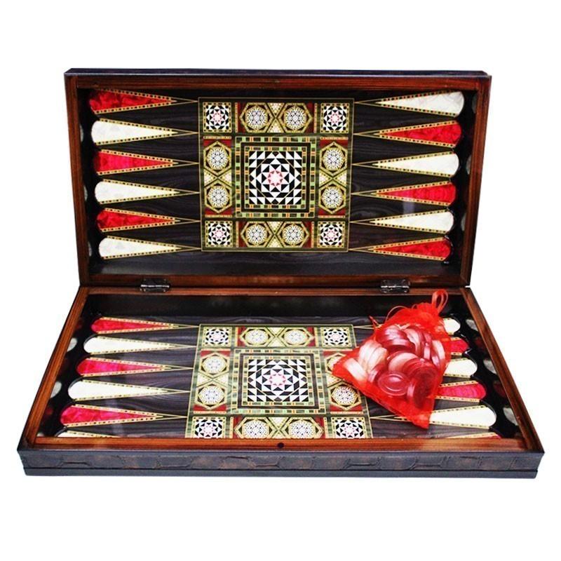 Backgammon-Chess Luxurious MOSAIC GLOSS   Τάβλι Σκάκι Mosaic Gloss Πολυτελείας
