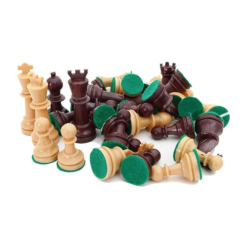 Chess Pawns with a Felt | Πιόνια για Σκάκι Πλαστικά με Τσόχα