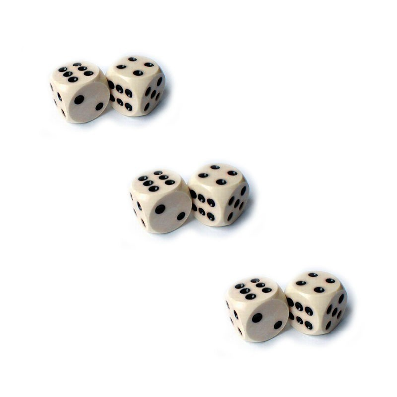 Backgammon Dice Big 3 Pairs | Σετ Ζάρια Μεγάλα Για Τάβλι 3 Ζεύγη