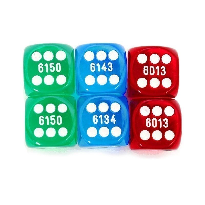 Numbered Dice Νο 16 | Σετ Ζάρια Αριθμημένα Νο 16