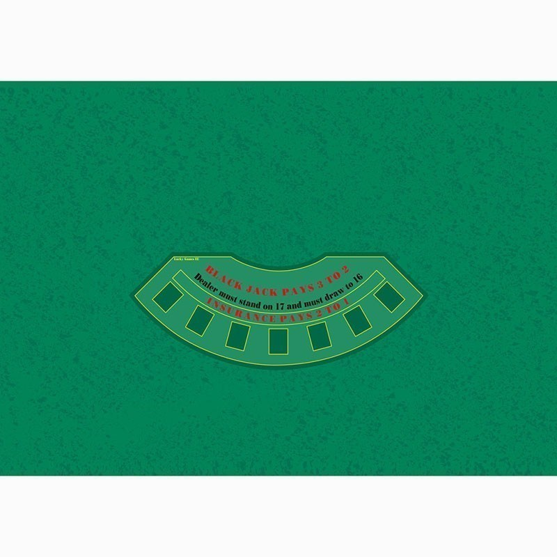 Blackjack Table Cloth - Rez Green | Τσόχα Black Jack Πράσινο Ρεζ