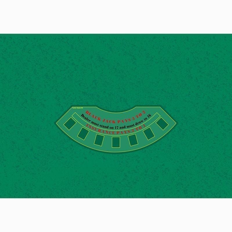 Blackjack Table Cloth - Rez Green | Τσόχα Black Jack Πράσινο Ρεζ