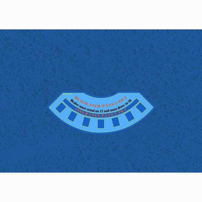 Blackjack Table Cloth - Cloud Blue | Τσόχα Black Jack Σύννεφο Μπλε