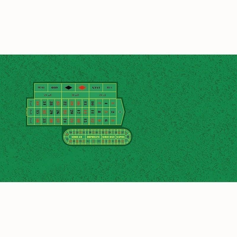 Roulette Table Cloth - Rez RH Green with Racetrack | Τσόχα Ρουλέτας Ρεζ Πράσινο