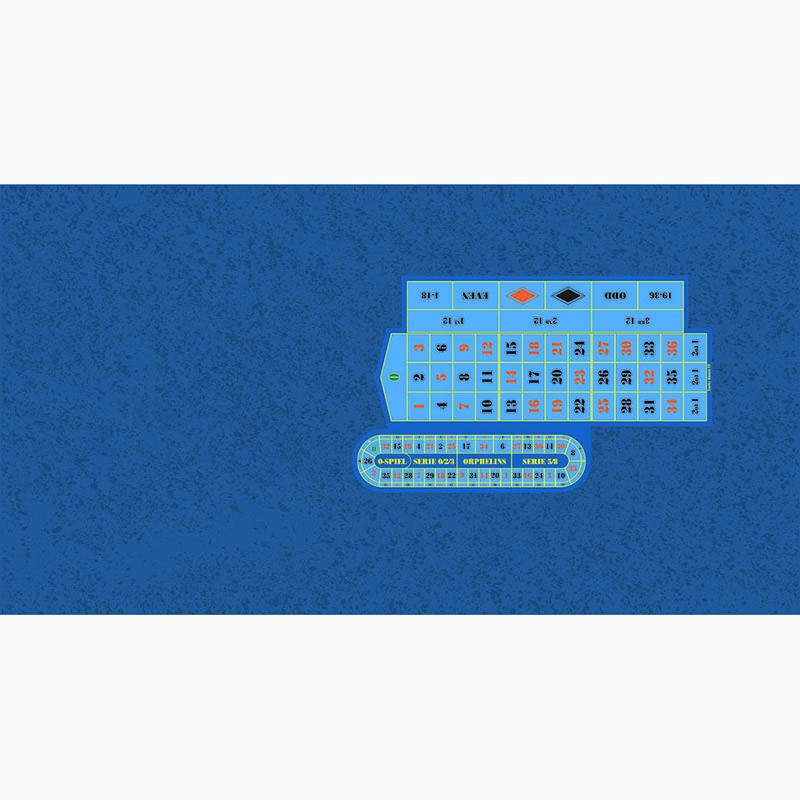 Roulette Table Cloth - Cloud LH Blue with Racetrack | Τσόχα Ρουλέτας Σύννεφο Μπλε