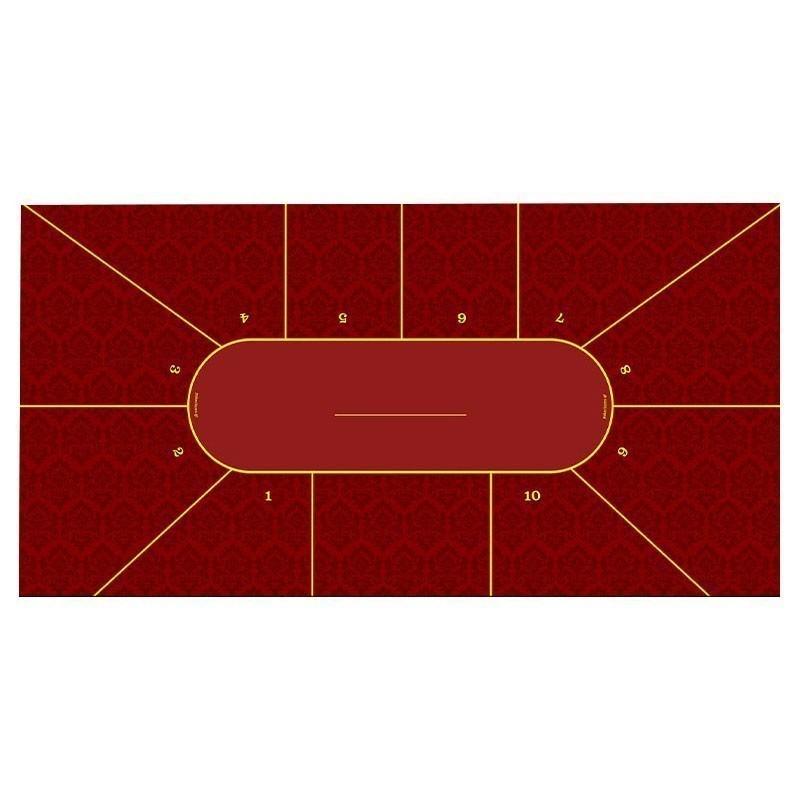 Classic Texas Hold 'Em Poker Table Cloth - King Bordeaux WL | Τσόχα Πόκερ King Μπορντώ