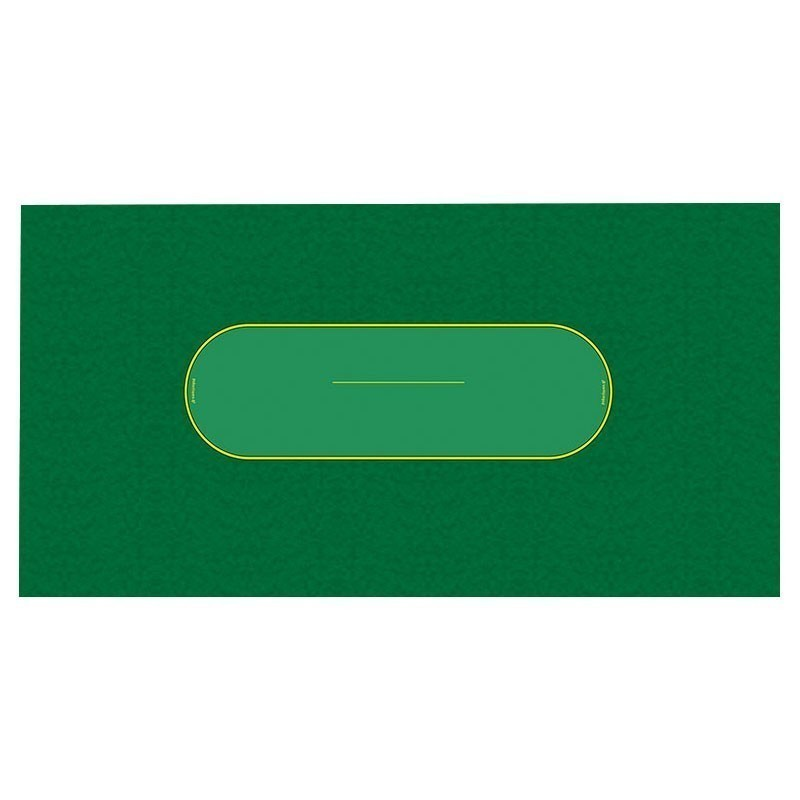 Classic Texas Hold 'Em Poker Table Cloth - Cloud Green | Τσόχα Πόκερ Σύννεφο Πράσινο