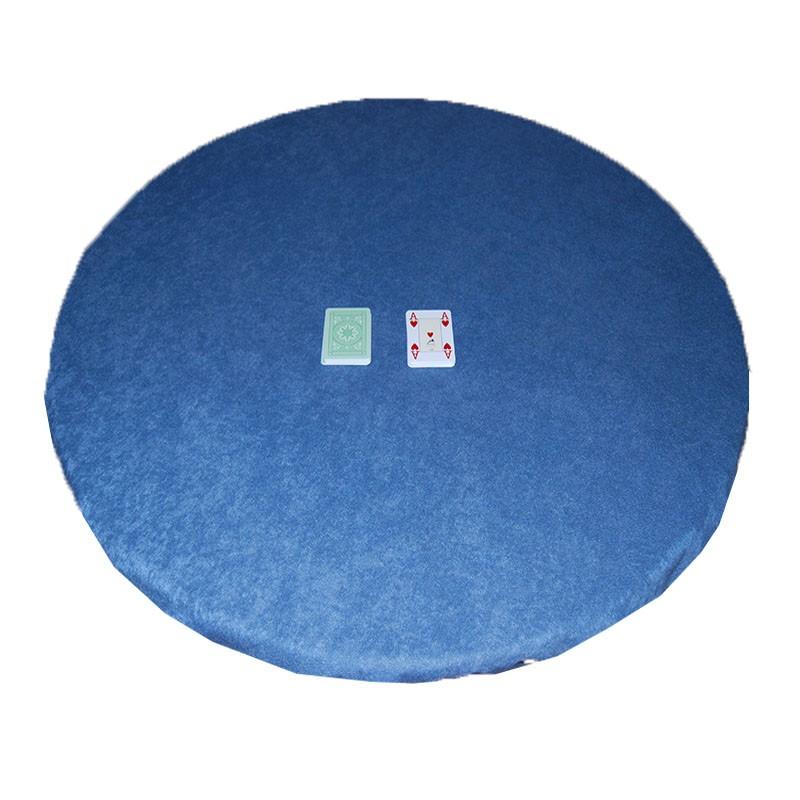 Round Felt Poker Table Cloth - Blue With Elastic Band 1,50 Diam.   Τσόχα Ροτόντα Με Λάστιχο 1,50m