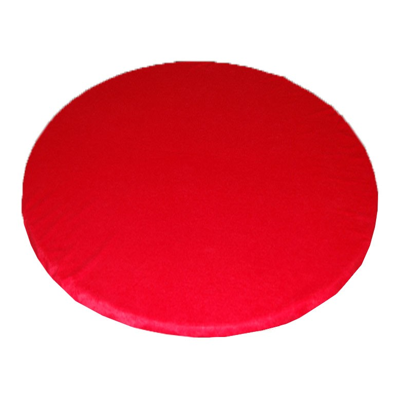 Round Felt Poker Table Cloth - Red With Elastic Band 1.50 Diam. | Τσόχα Ροτόντα Με Λάστιχο 1,50m