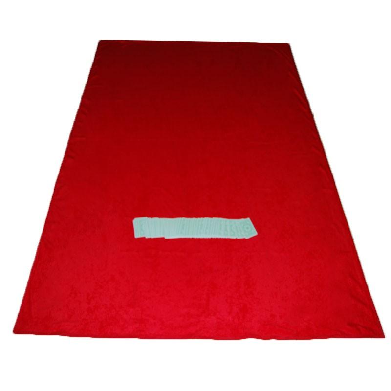 Portable Felt Poker Table Cloth - Red 1.50 x 2,00 | Τσόχα Με Ρέλι 1,50 x 2,00