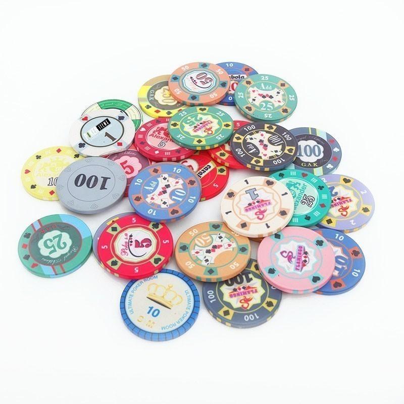 Ceramic 10gr Customized Poker Chip | Μάρκα Πόκερ Κεραμική Custom 10gr