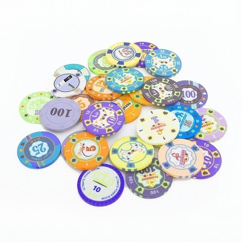 Ceramic 10gr Customized Poker Chip