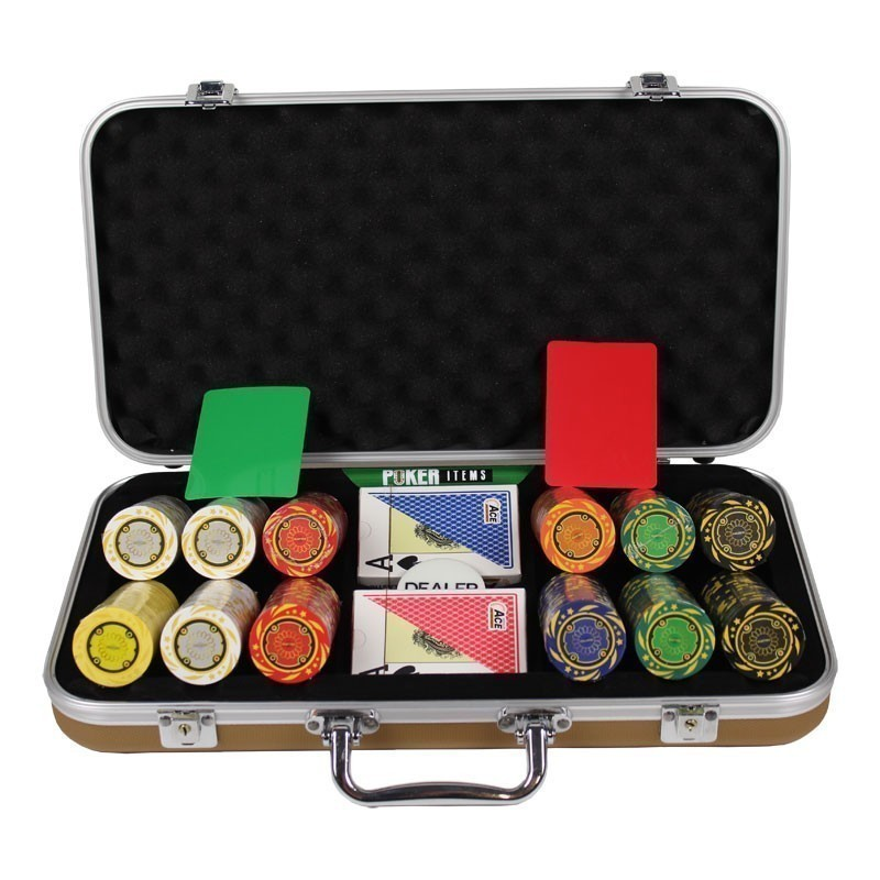 Poker Set 300pcs Quattro 14gr Set in Luxury Abs Gold Case