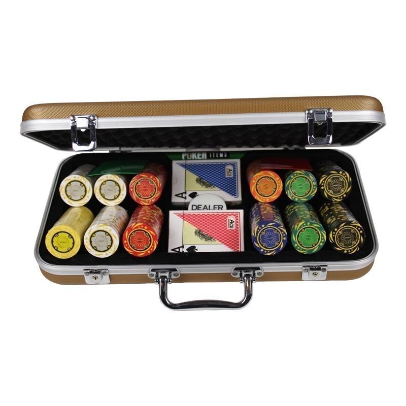 Poker Set 300pcs Quattro 14gr Set in Luxury Abs Gold Case