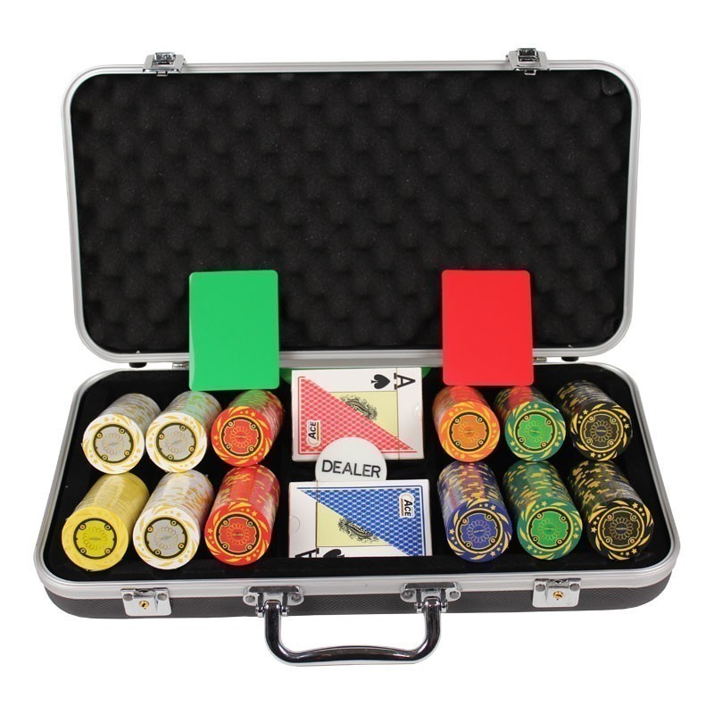 Poker Set 300pcs Quattro 14gr Set in Luxury Abs Black Case