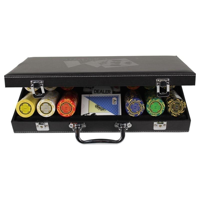 Poker Set 300pcs Quattro 14gr Set in Luxury Abs Leather Case