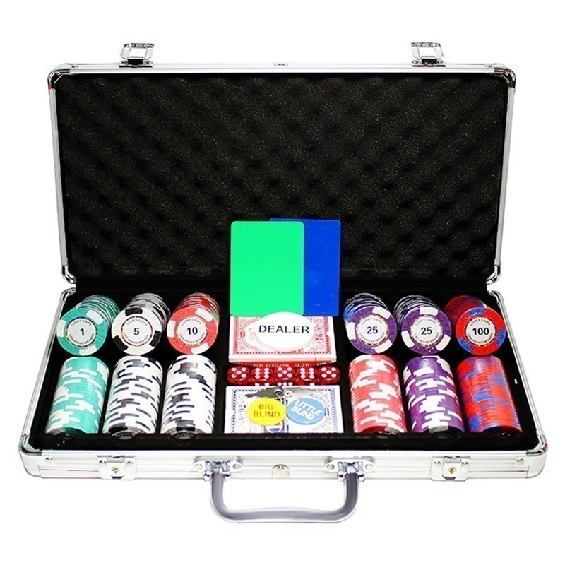 Poker Set 300pcs Las Vegas Nevada Tornado 14gr Clay - Complete Game Set in Aluminium Carry Case |Σετ Μάρκες Πόκερ Tornado 300τεμ 14gr Σε Βαλίτσα