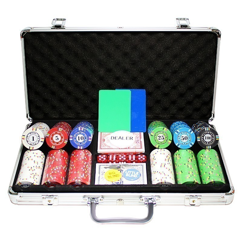 Poker Set 300pcs Protagon 14gr Ceramic Clay - Complete Game Set in Aluminium Carry Case | Σετ Μάρκες Πόκερ 300τεμ 14gr Σε Βαλίτσα