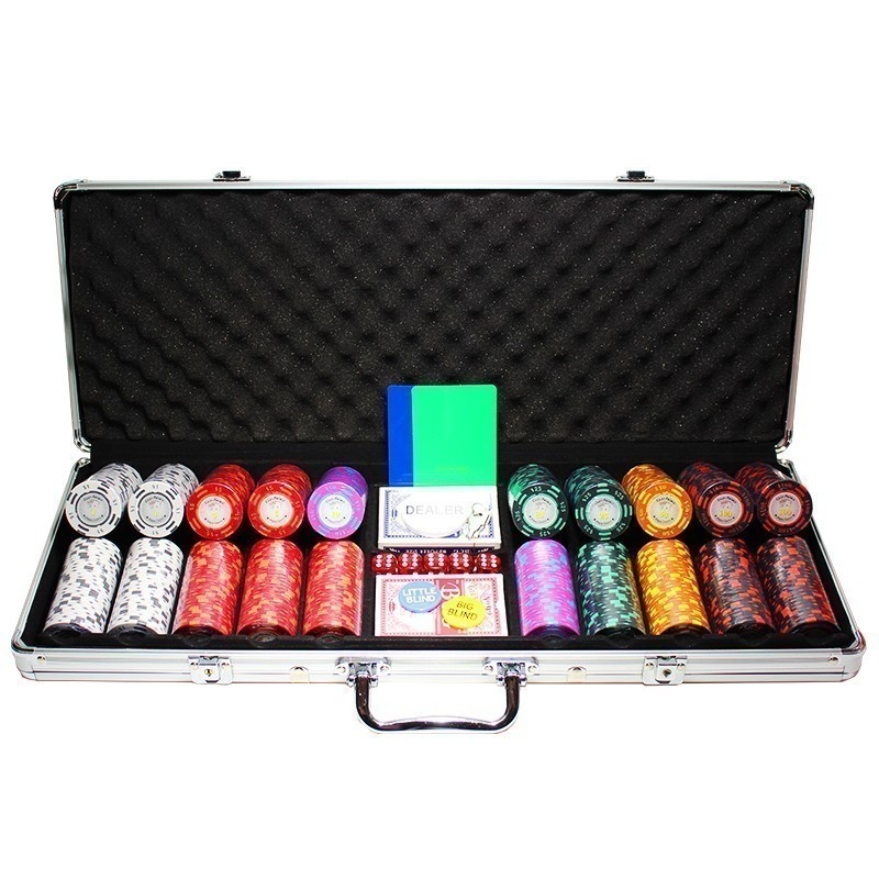 Poker Set 500pcs Poker Palace 14gr Clay - Complete Game Set in Aluminum Carry Case | Σετ Μάρκες Poker Palace 14gr 500τεμ Σε Βαλίτσα Αλουμινίου