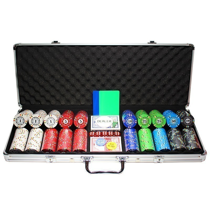 Poker Set 500pcs Protagon 14gr Ceramic Clay - Complete Game Set in Aluminum Carry Case | Σετ Μάρκες Πόκερ Protagon 500τεμ 14gr Σε Βαλίτσα Αλουμινίου