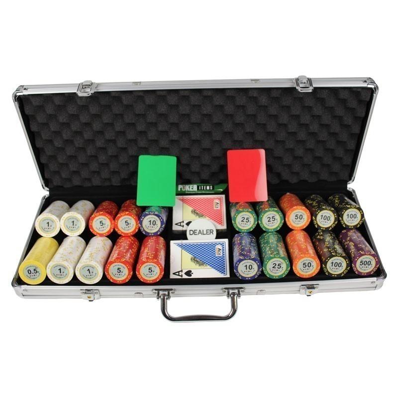Poker Set 500pcs PokerItems 14gr Set in  Case