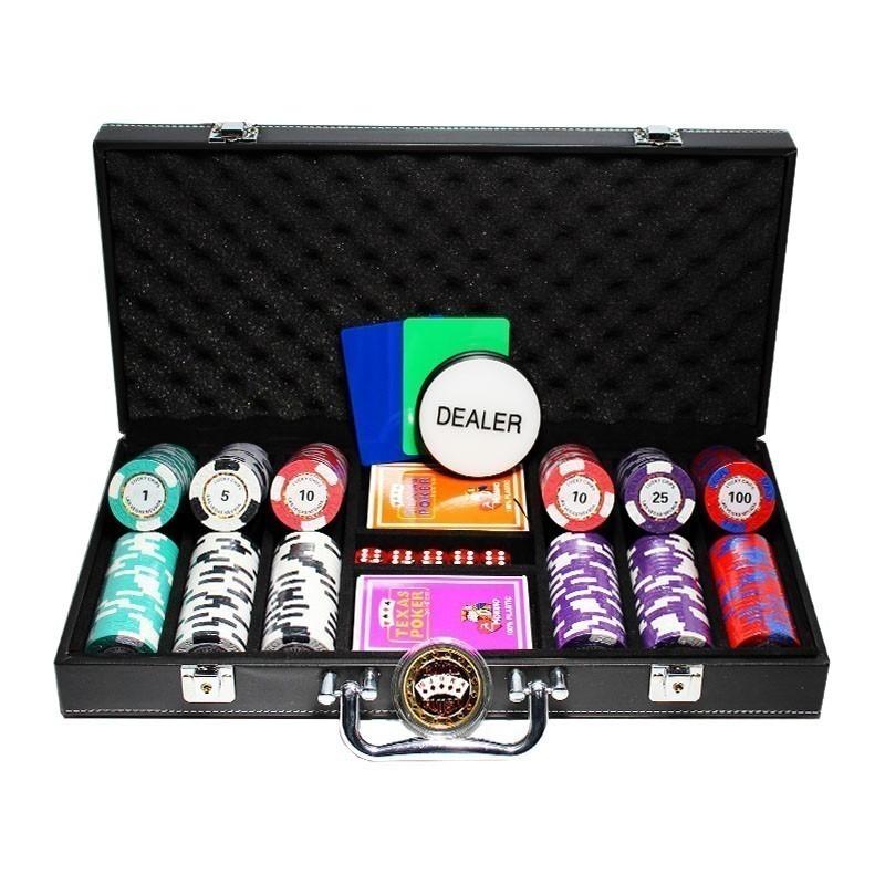 Poker Set 300pcs Las Vegas Nevada Tornado 14gr Clay - Complete Game Set in Luxury Carry Case | Σετ Μάρκες Πόκερ Tornado 300τεμ 14gr σε Βαλίτσα Πολυτελείας