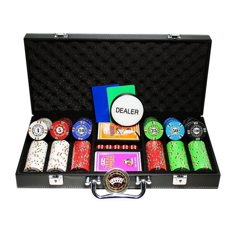 Poker Set 300 Chips Protagon Poker Palace 14gr Ceramic Clay Composite - Complete Game Set in Luxury Carry Case | Σετ Μάρκες Πόκερ Protagon 300τεμ 14gr Σε Βαλίτσα Πολυτελείας